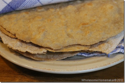 Whole wheat flat bread