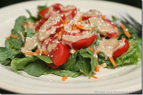 Asian Sesame Dressing on salad